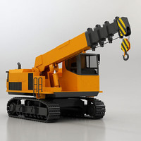 telescopic crawler crane 3d 3ds