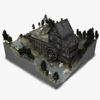 Watermill Scene