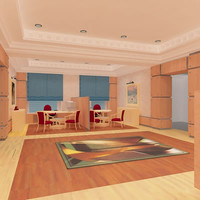 hall lounge interior 3d model