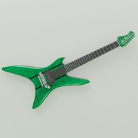 stealth guitar 3d model