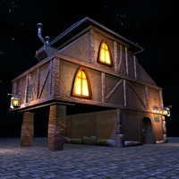 fantasy cartoon house 3d model