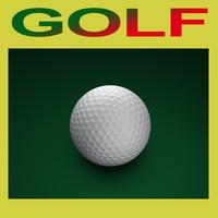 golf ball 3d c4d