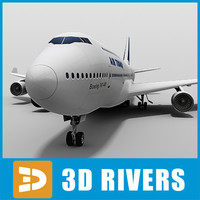 b-747 air france look 3d 3ds