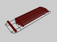 free c4d model winter snow sled