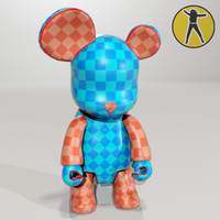 Bear vinyl toy paintable