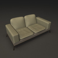 3ds max photorealistic sofa