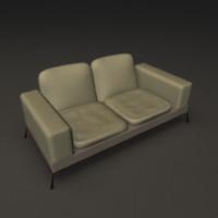 3ds max photorealistic sofa