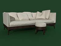 3d sofa puff flexform model