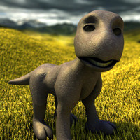 3d creature drake dragon model