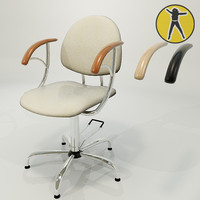 3d model chair hair
