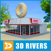 3ds max fast food dunkin donuts