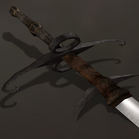flamberge great sword 3d model