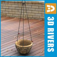 3ds planter flowerpot
