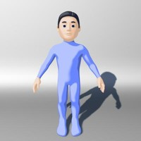 3d model male man guy