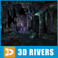 Underwater cave (low poly) by 3DRivers