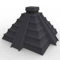 3d model mayan temple