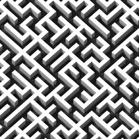 3d model of mega-maze mazes