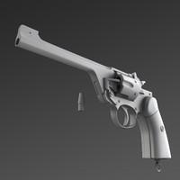 free obj model revolving pistol
