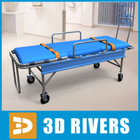stretcher carry object 3d 3ds