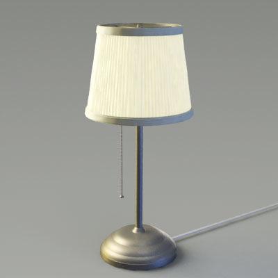 3d ikea table lamp model. Black Bedroom Furniture Sets. Home Design Ideas