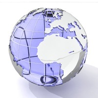 crystal globe 3d model