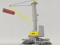 3d model liebherr harbour crane