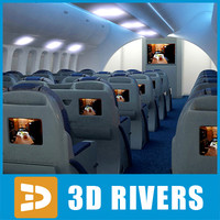 dreamliner business class interior 3d max