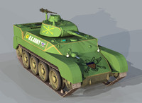 harry tank 3d obj
