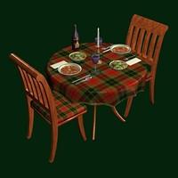 bistro table 3d obj