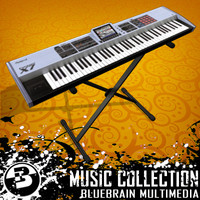 music keyboard 3d model