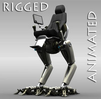 3dsmax robot rigged animation