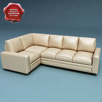 3d model sectional sofa