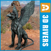 Stone gryphon by 3DRivers