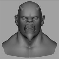 3d demons head
