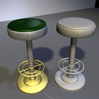 3ds max chrome bar stool 01