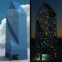 fountain place dallas skyscraper 3d model