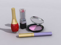 3d model of makeup cosmetics