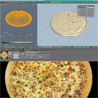 3d model of pizza
