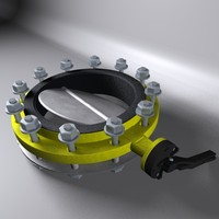 cinema4d butterfly valve