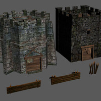 3d model towers good evil