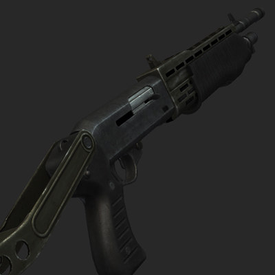 spas12 shotgun rendering max - Spas 12... by JeepRubi