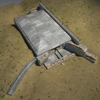3d model military bunker