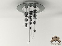 bubbles 12plp lamp 3d model