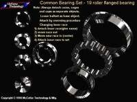 machine roller bearing 3d model