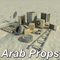truax arab street props 3d max