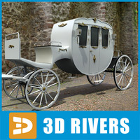 3d model horse carriage