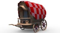 gypsy cart 3d model