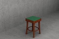 47cm cafe stool upholstered 3d max