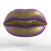 3d eastern lips model