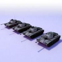 M47-Patton_LODs_3DGames_Model